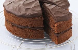 Chocolate Cake with Fudge Icing