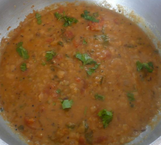 Dry Fish Mango Dal Curry
