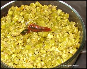 Beans kobbari fry
