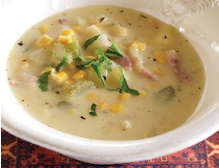 Sweet Corn Bacon Soup