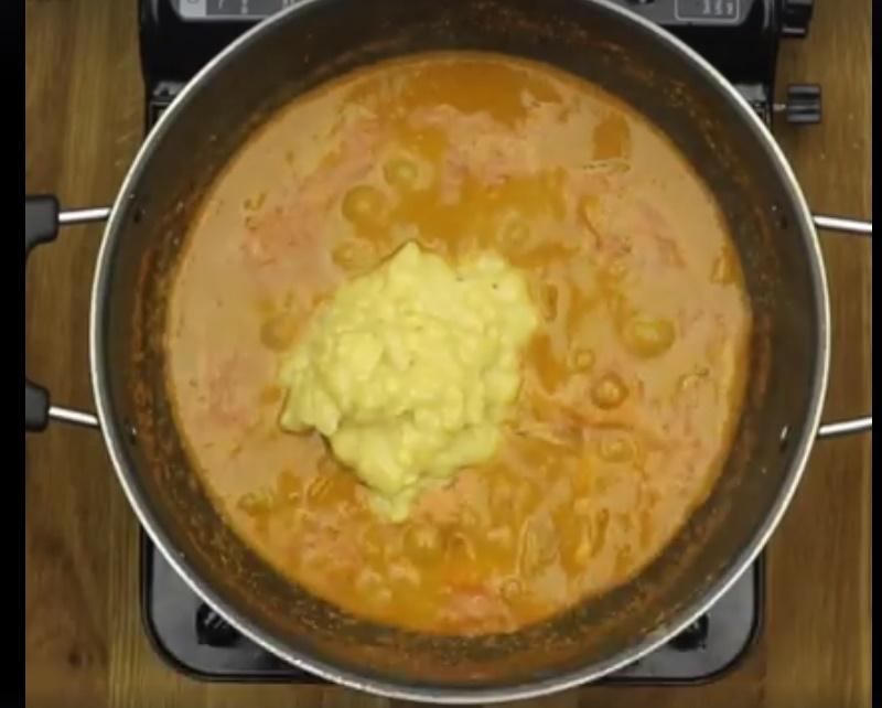 Easy Sambar -add cooked daal