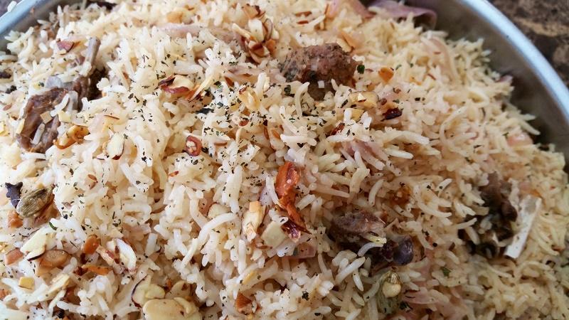 Cooked rice -yakni pulav