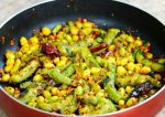 Chikkudukaya Vepudu or Broad Beans stir fry (Telangana style)