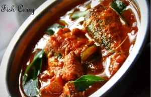 fish fried with tomato and onions