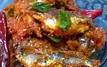 Pepper fish or Pepper Sardine or Mathi kurumulaku ittathu