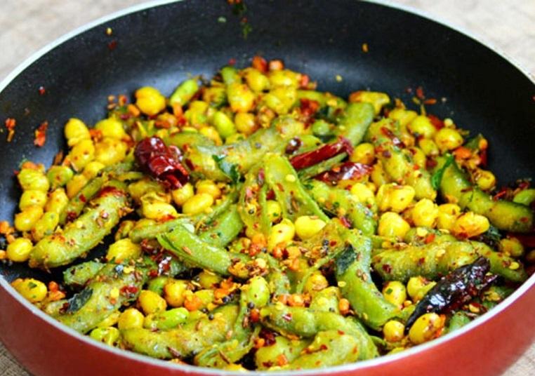 Chikkudukaya Vepudu or Broad Beans stir fry